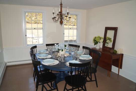 The dining room is just off the kitchen for family dinners-117 Old Wharf Road Chatham Cape Cod - New England Vacation Rentals