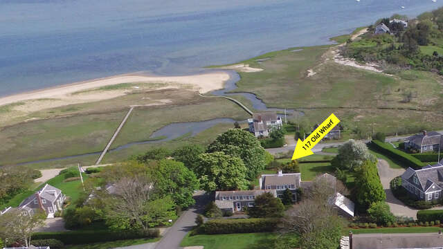 Aeriel view! - (this is the view from the house - the beach is pictured separately and is the town landing At Scateree-Not the one out front in this photo) 117 Old Wharf Road Chatham Cape Cod - New England Vacation Rentals