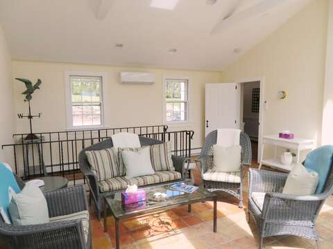 Sunroom - Mini Split A/C to keep you nice and cool!  117 Old Wharf Road Chatham Cape Cod - New England Vacation Rentals