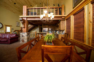Kitchen dining provides plenty of seating for you to enjoy a meal as a family.