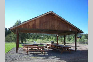 The picnic pavilions are perfect for family reunions.