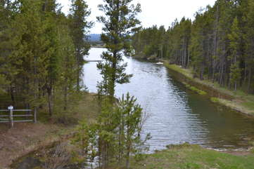 View of reservoir from deck