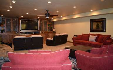 Theater room downstairs, different view