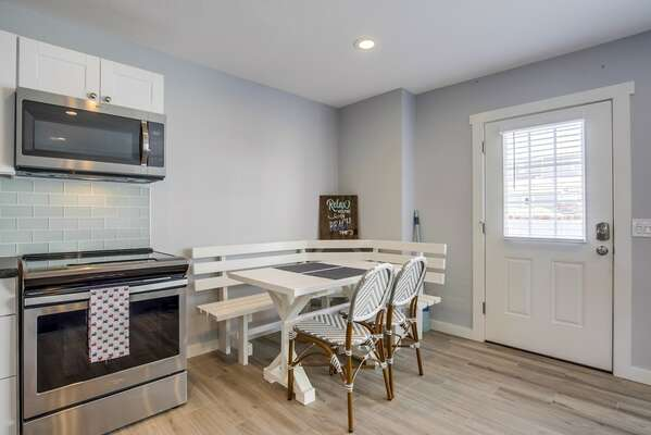 Dining Area Located by Kitchen.