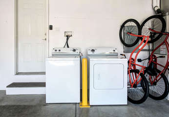 Washer and Dryer in the garage