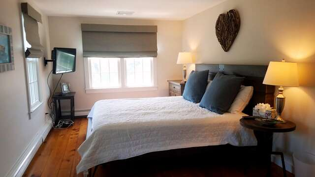 2nd floor Bedroom 3 with King size bed with Flat Screen TV- 66 The Cornfield Chatham Cape Cod - New England Vacation Rentals