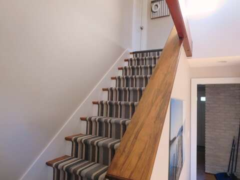 Stairs to 2nd level - 66 The Cornfield Chatham Cape Cod - New England Vacation Rentals