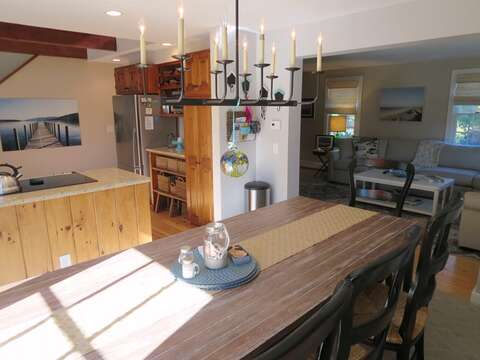 Overview of dining, living area, and kitchen - 66 The Cornfield Chatham Cape Cod - New England Vacation Rentals