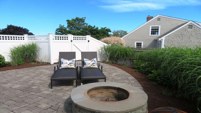 Relax by the fire pit - roast some marshmallows with the kids and make memories! - 66 The Cornfield Chatham Cape Cod - New England Vacation Rentals