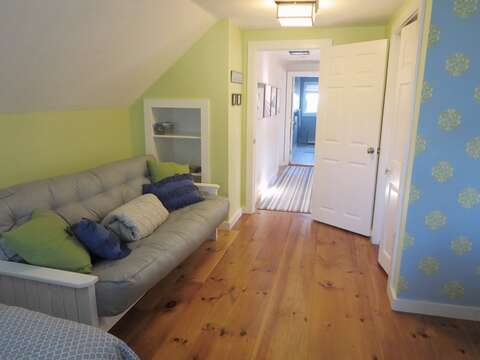 view down the hall to the bathroom and 3rd bedroom - 66 The Cornfield Chatham Cape Cod - New England Vacation Rentals