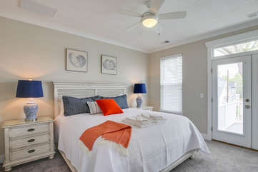 Master bedroom, second floor. Features a private master bath and private porch.