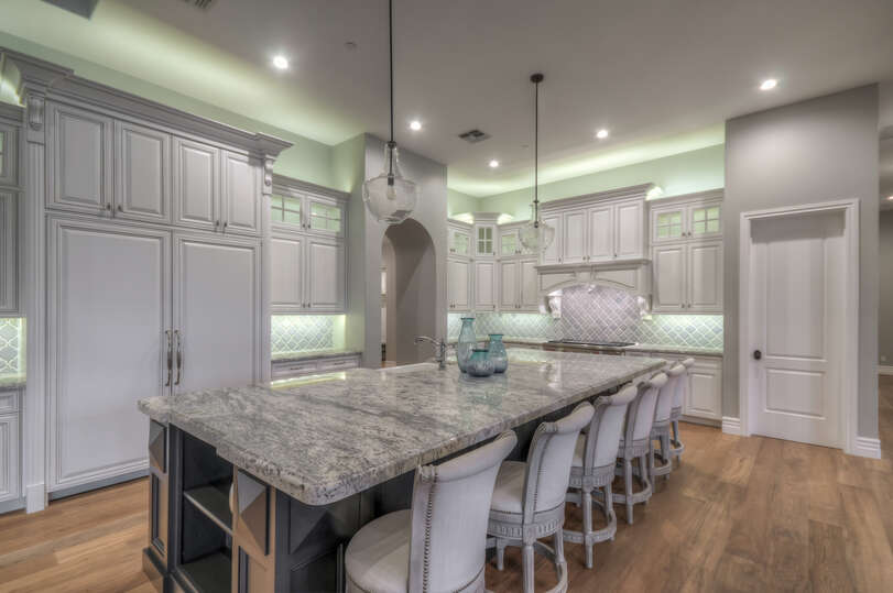 Enjoy a Luxury Kitchen and Upscale Appliances.