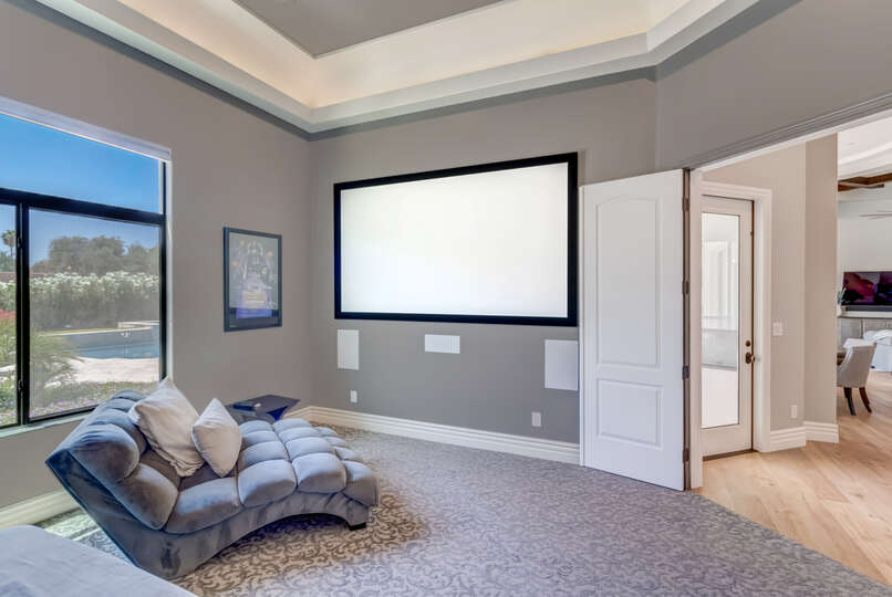 Large Theater Room in Scottsdale Vacation Home Rental.