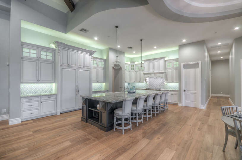 Luxury Kitchen with Plenty of Cabinet Space and a Large Island.