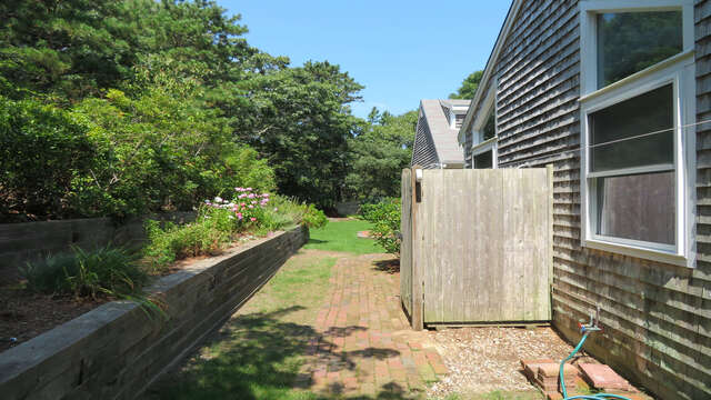 Fully enclosed outdoor shower with hot and cold water-55 High Point Drive North Chatham Cape Cod - New England Vacation Rentals