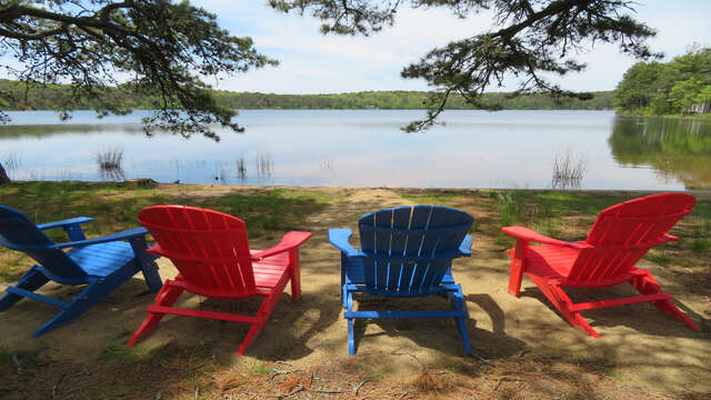 The views can't be beat! - When water levels are high - chairs are set to the left of the cottage rather than the front- either way the view is 5 star!! 1047 Old Queen Anne Road Chatham Cape Cod - New England Vacation Rentals