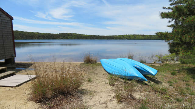 Adventure awaits  you on the pond (Use kayaks at your own risk) WHen water levels are high (Usually MAy-Early July) the waters edge is right up to the cottage-1047 Old Queen Anne Road Chatham Cape Cod - New England Vacation Rentals