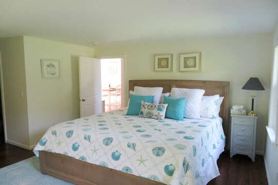 1st floor bedroom with Queen bed. 55 High Point Drive North Chatham Cape Cod - New England Vacation Rentals