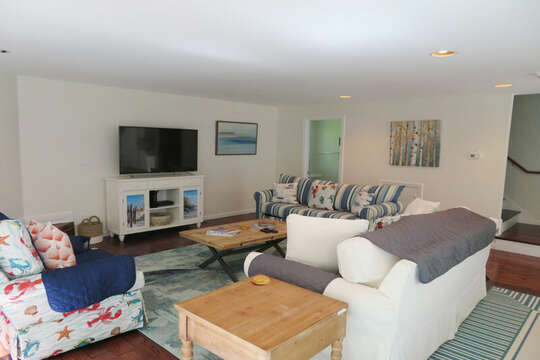 Living room with flat screen TV- WiFi-55 High Point Drive North Chatham Cape Cod - New England Vacation Rentals