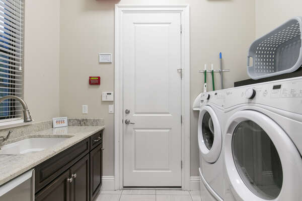 The home has it own laundry room