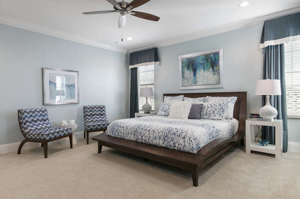 Master Suite 9 features a king size bed