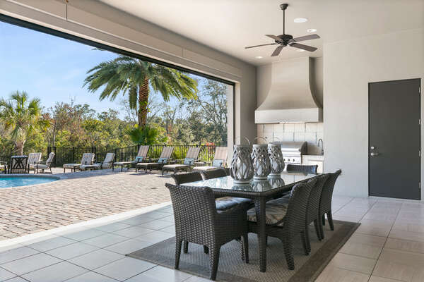 Dine alfresco with a meal from the barbecue