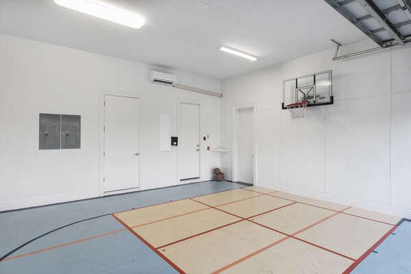 A half basketball court