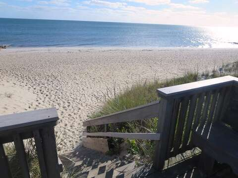 Steps down to the beach at the end of the road - Harwich Port Cape Cod - New England Vacation Rentals