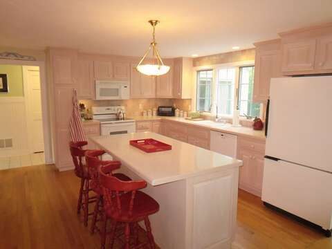 Fully equipped kitchen with Breakfast bar- 29 Ginger Plum Lane Harwich Port Cape Cod - New England Vacation Rentals