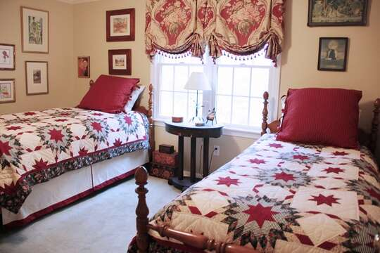 2nd floor bedroom #4 with 2 twins- 29 Ginger Plum Lane Harwich Port Cape Cod - New England Vacation Rentals
