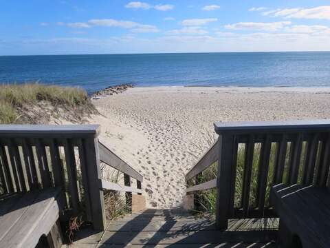 Steps down to this Nantucket Sound-side beach just a short stroll from the home - Harwich Port Cape Cod - New England Vacation Rentals