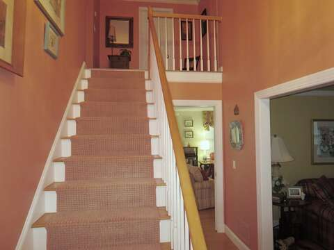 Stairs to the 2nd floor- 29 Ginger Plum Lane Harwich Port Cape Cod - New England Vacation Rentals