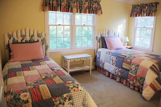 2nd floor bedroom #2 with 2 twins- 29 Ginger Plum Lane Harwich Port Cape Cod - New England Vacation Rentals