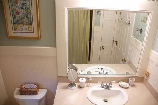 2nd floor bathroom off hall- 29 Ginger Plum Lane Harwich Port Cape Cod - New England Vacation Rentals