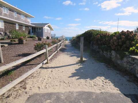 Path to the beach at the end of Ginger Plum Lane - Harwich Port Cape Cod - New England Vacation Rentals
