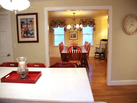 Easy access from the kitchen to the dining room- 29 Ginger Plum Lane Harwich Port Cape Cod - New England Vacation Rentals