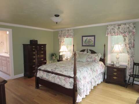 The master bedroom has a Queen size bed and offers an ensuite bath- 29 Ginger Plum Lane Harwich Port Cape Cod - New England Vacation Rentals