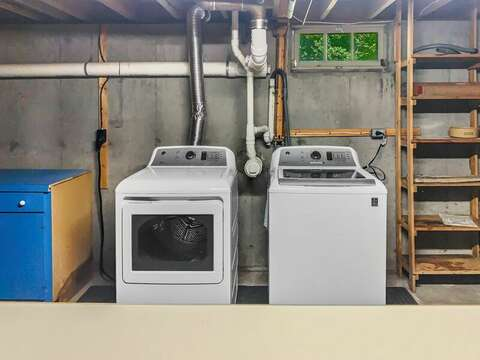 Washer and dryer in the basement at-23 Ginger Plum Lane Harwich Port Cape Cod - New England Vacation Rentals