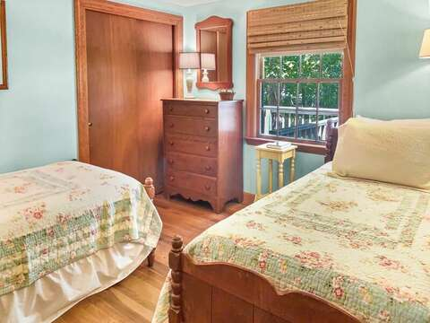 Bedroom #3 with 2 Twin beds (also will have a window AC unit) - 23 Ginger Plum Lane Harwich Port Cape Cod - New England Vacation Rentals