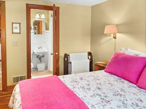 Bedroom 1 has a Queen bed and an en suite full bath - 23 Ginger Plum Lane Harwich Port Cape Cod - New England Vacation Rentals