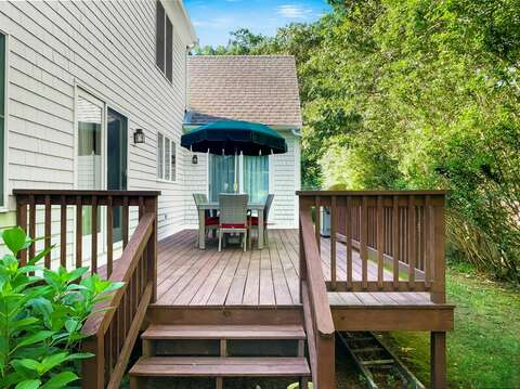 Deck at-29 Ginger Plum Lane Harwich Port Cape Cod - New England Vacation Rentals