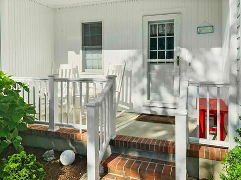Front porch at -29 Ginger Plum Lane Harwich Port Cape Cod - New England Vacation Rentals