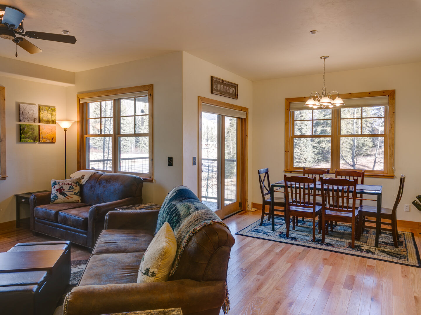 Open dining area and living room