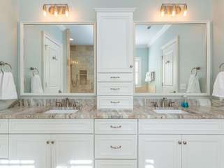 Double Vanities with ample cabinet space