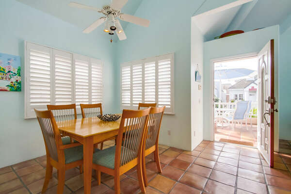 Dining Room on the 2nd Floor of our Mission Beach House Rental in San Diego