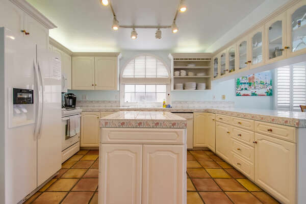 Fully Stocked Kitchen on the Second Floor of our Mission Beach House Rental in San Diego