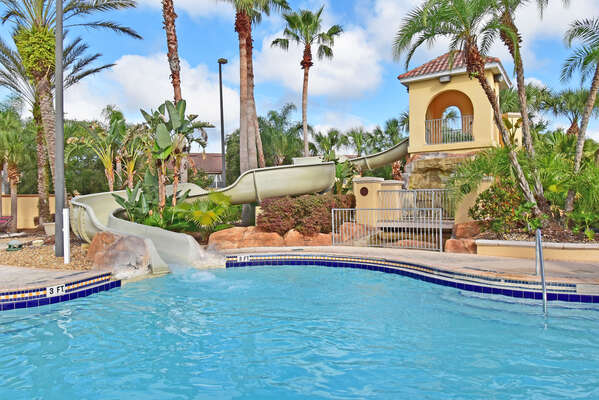 On-site facilities:- Water slide exits into the zero entry pool