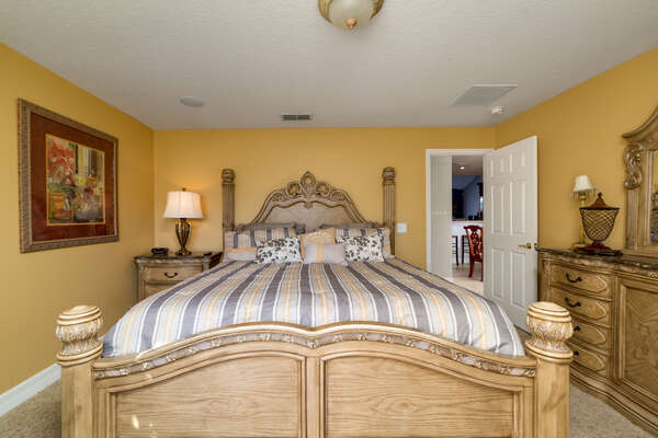 Come home to this comfortable and luxurious king bedroom after a tiring day