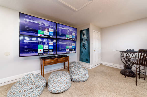 Watch 4 different sports game at the same time with these SMART TV`s