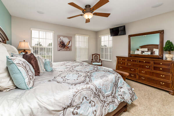 Rest easy in this comfy bedroom